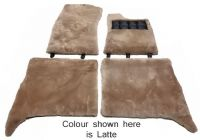 Set of 4 Sheepskin Over Rugs - Rolls Royce Silver Shadow From 1974 To 1980